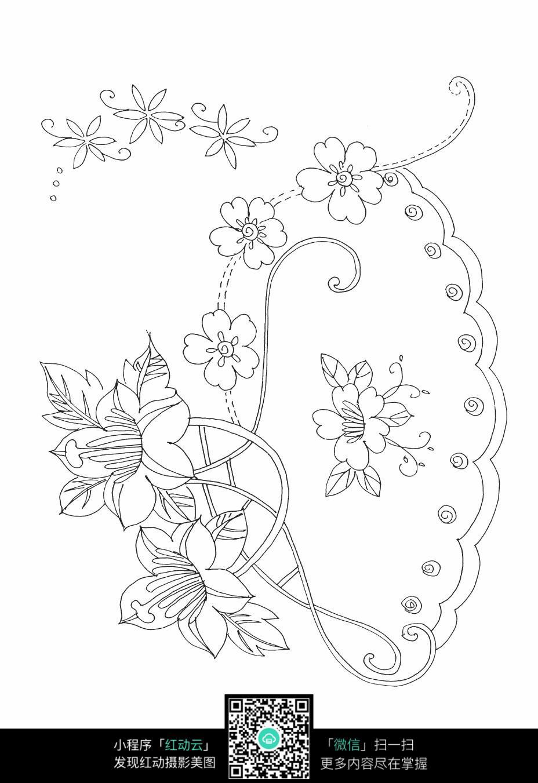 花纹刺绣图案素材