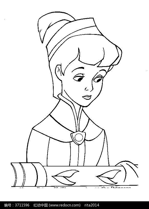 卡通美少女战士人物线描