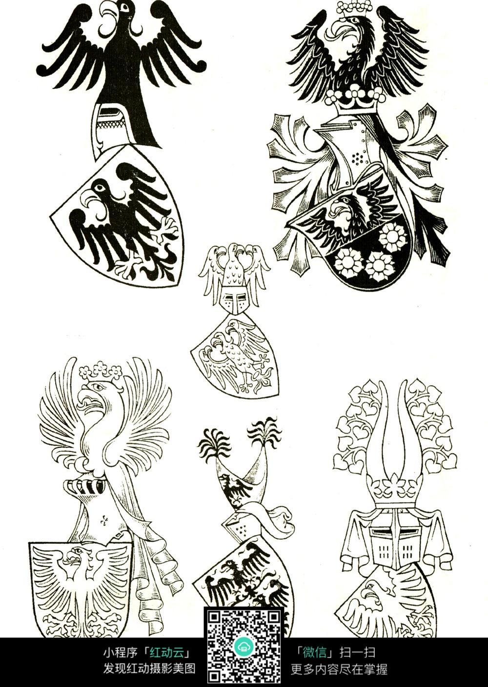 手绘盾牌设计图