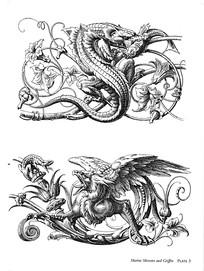 龙凤纹装饰图案素材
