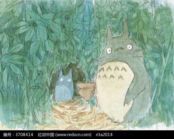 龙猫人物手绘图