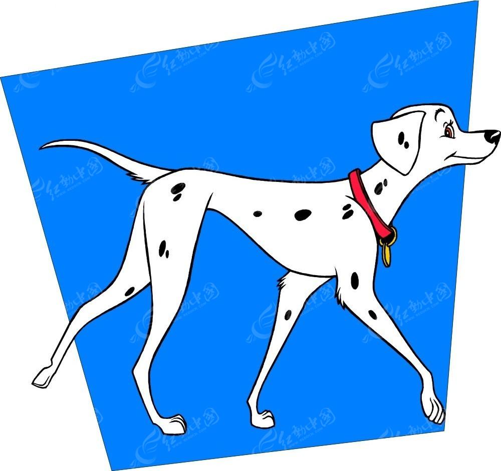 妈妈斑点狗手绘插画