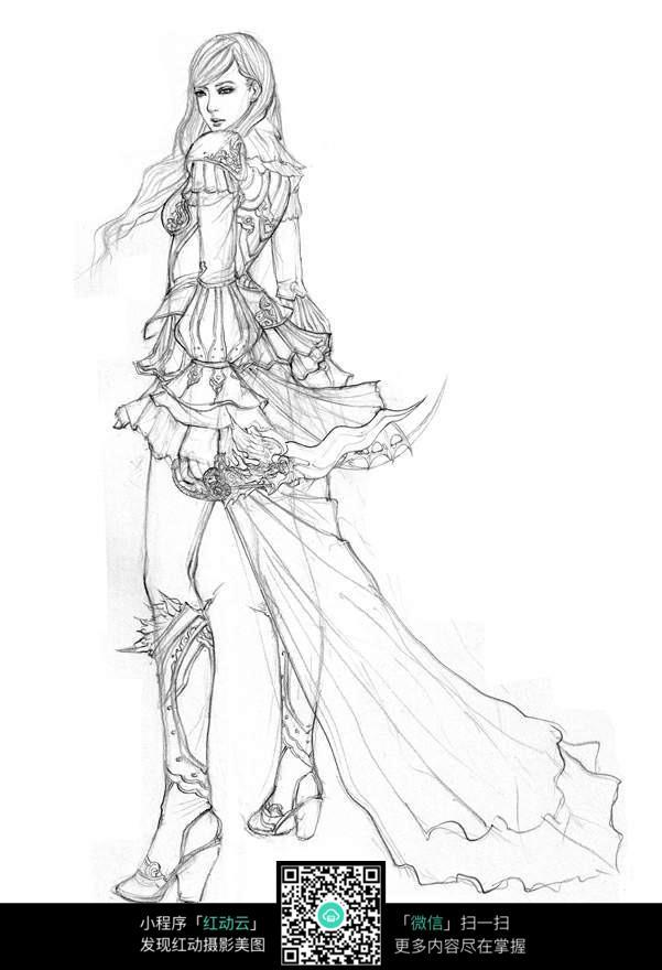 美少女战士手绘线稿素材