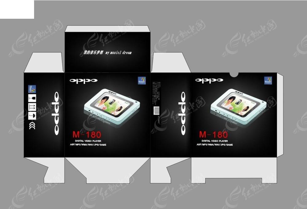 oppo mp3播放器_oppo音乐播放器包装设计CDR素材免费下载_红动网