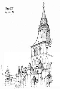 欧式城堡线稿图