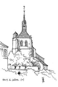 欧式建筑的顶楼 黄色欧式尖顶建筑和钟楼 欧式尖顶建筑和嵌有时钟的门图片