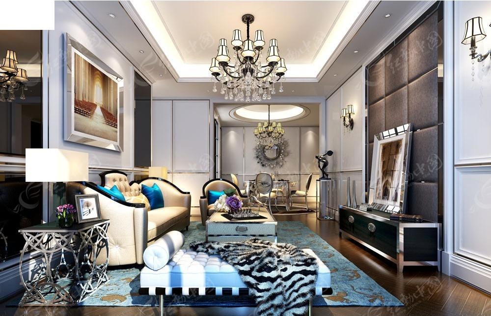 免费素材 3d素材 3d模型 室内设计 欧式客厅家装效果图  请您分享