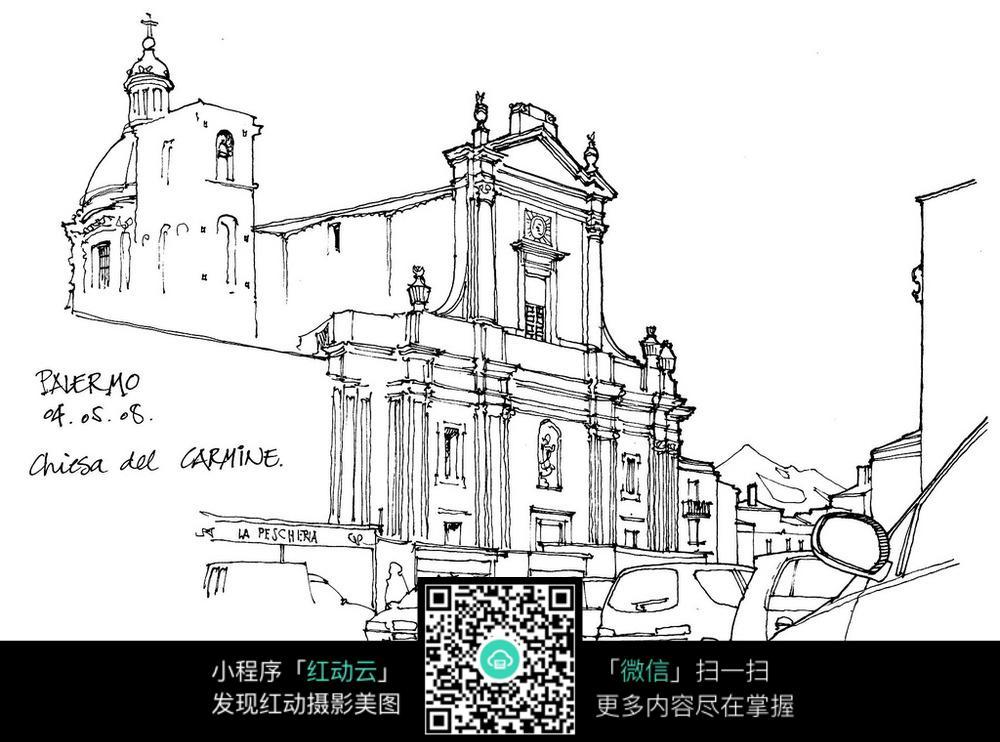 工程图 简笔画 平面图 手绘 素描 线稿 1000_742