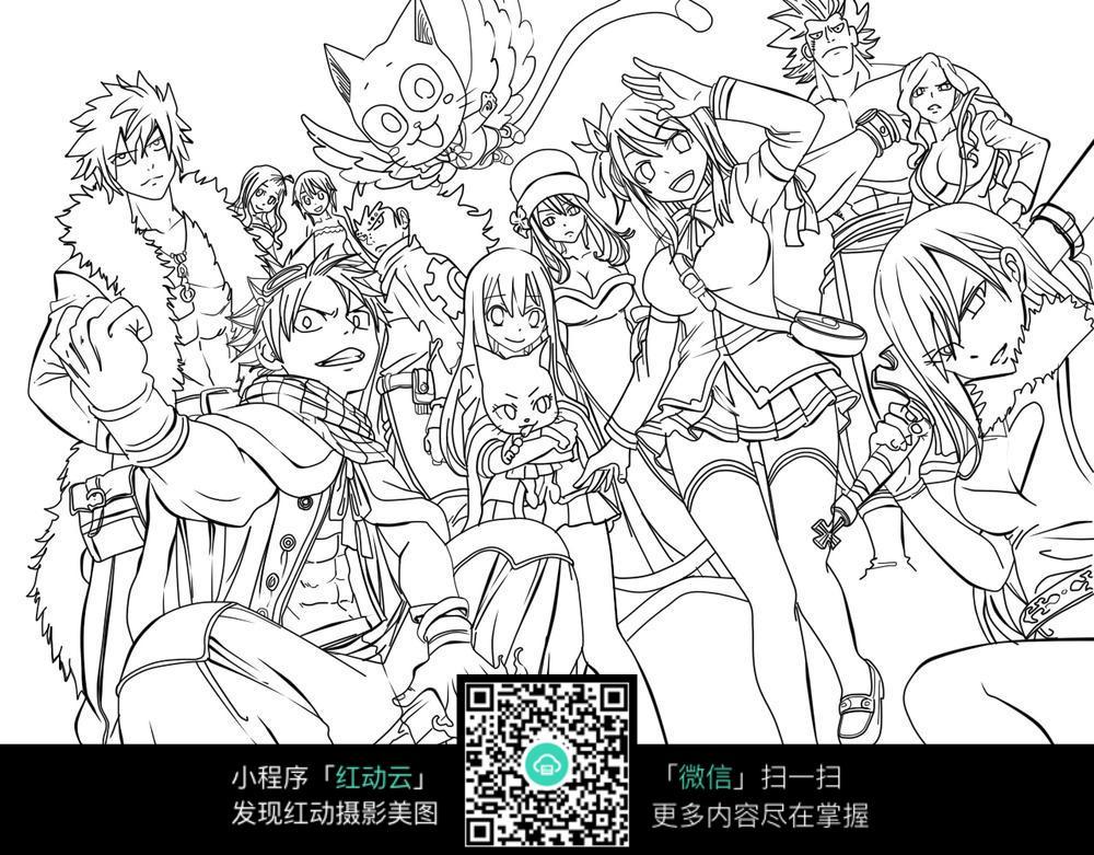 七龙珠动漫人物线描