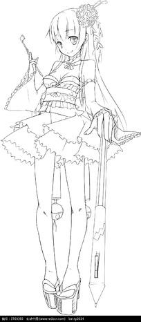 少女服饰人物设计漫画