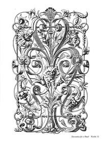 狮面花纹装饰图案素材