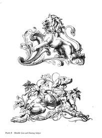 狮子狗装饰图案素材