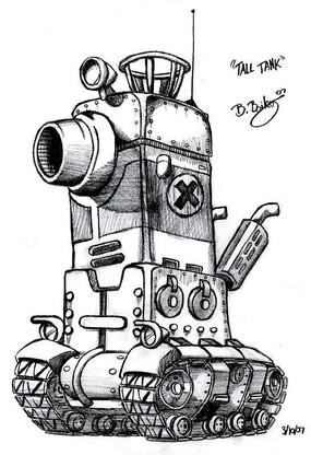 战斗机坦克手绘线描画 作战坦克手绘线稿图 坦克战斗机手绘线描图