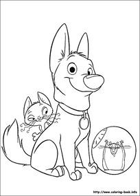 小猫小狗卡通手绘线描图