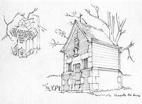 国外小型教堂建筑手绘图图片图片