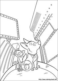 张望的小猫小狗卡通手绘线描图