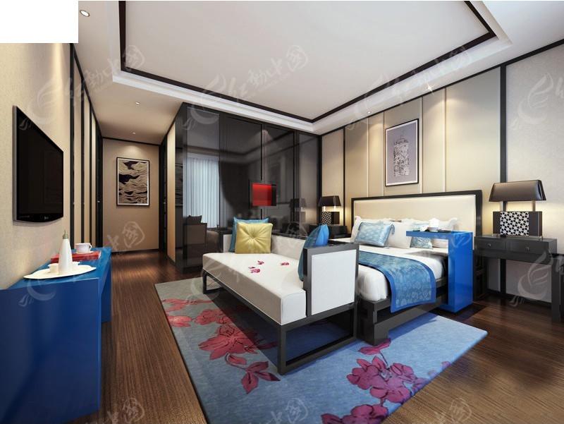 中式风格卧室效果图3dmax免费下载_室内设计素材