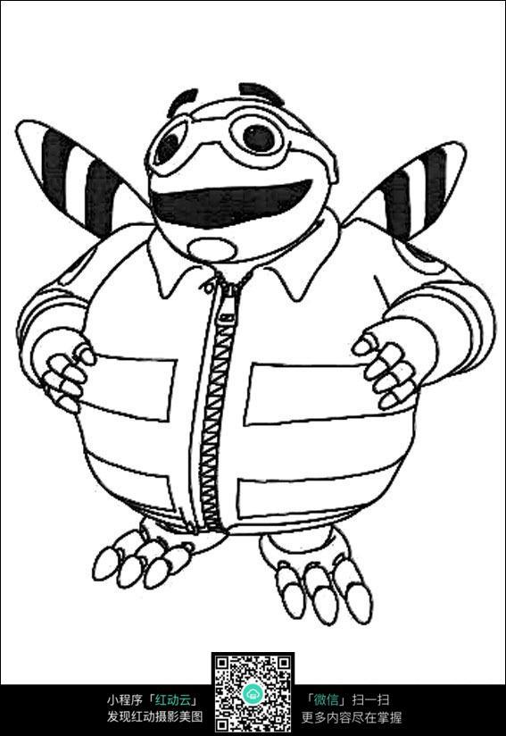 大肚子蜜蜂手绘线描画