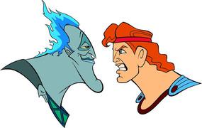 大力士海格力斯和冥王头像卡通