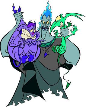大力士海格力斯卡通角色冥王凯迪斯和手下