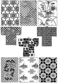 古代服装花纹PSD免费下载 传统图案素材