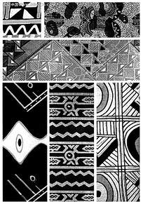 高清黑白古典花纹素材