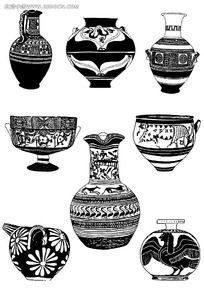 古典花瓶雕刻图案素材