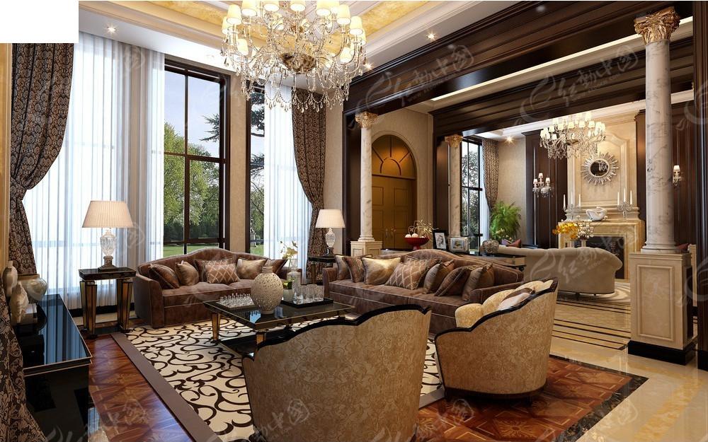 古典欧式客厅装修效果图