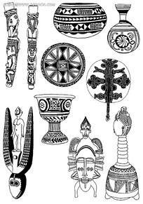 古典器具花纹图片素材
