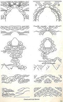 古典云纹手绘图形图案
