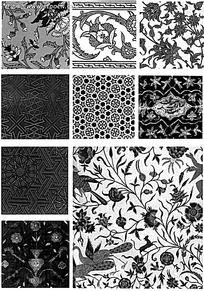 古典装饰花纹图片素材