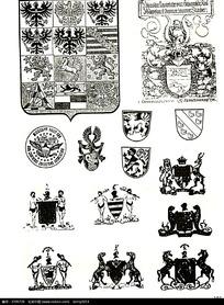 国外徽章图案素材