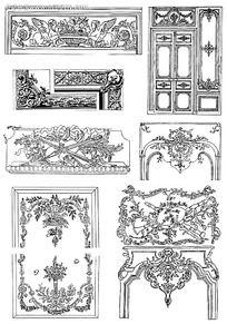 家具装饰雕刻花纹图案