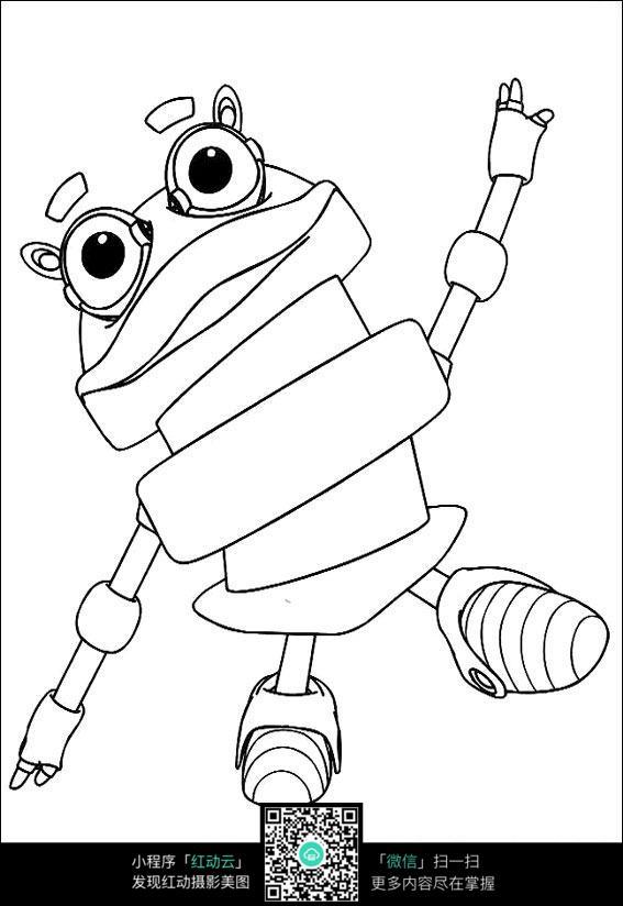 机器人手绘线描画