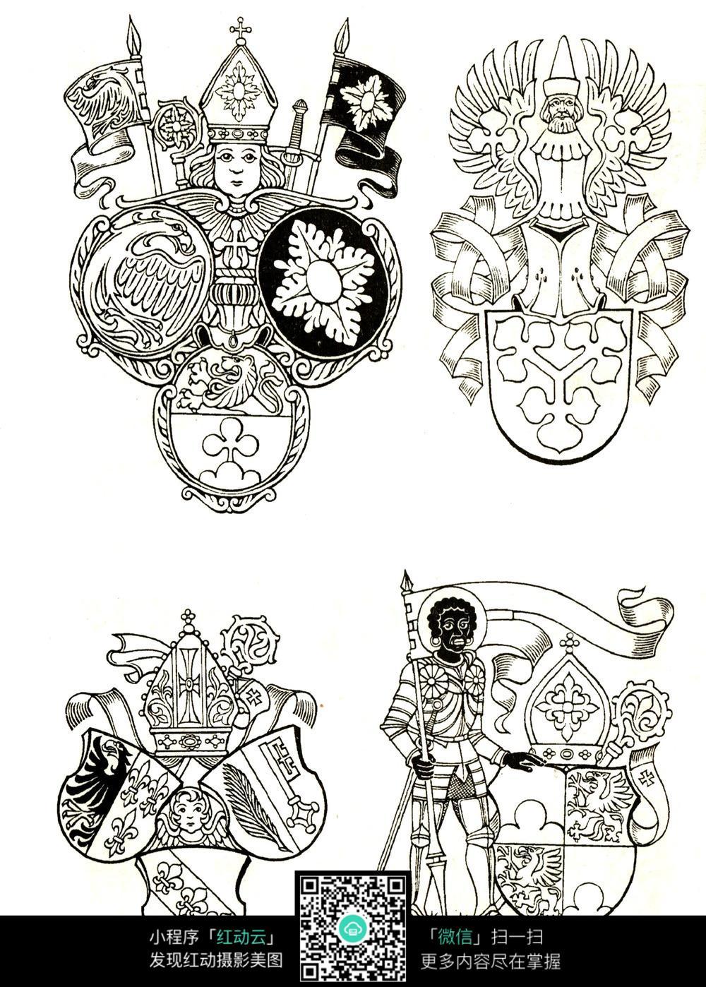 欧美古典人物花纹素材