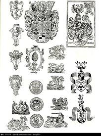 欧美徽章图案花纹素材