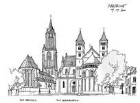 欧式宫廷城堡建筑线稿