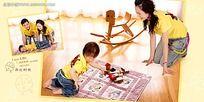 亲子妈妈和宝贝互动摄影图片