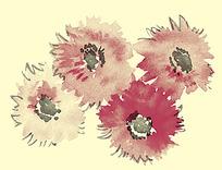 水墨抽象花纹图案psd素材