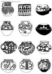 陶瓷罐花纹图案