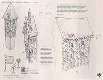 欧式建筑手绘线稿画
