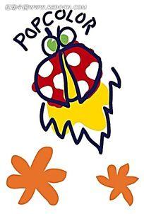 七星瓢虫儿童涂鸦简笔画