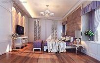 现代欧式风格卧室效果图