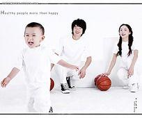 一家三口亲子照片摄影图片JPG