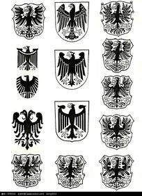 大鸟徽章图案素材