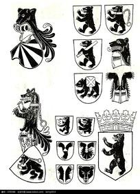 动物徽章图案素材