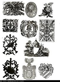 古埃及徽章图案素材