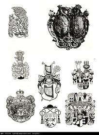 国外皇冠徽章图案素材