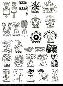 国外精品徽章图案素材