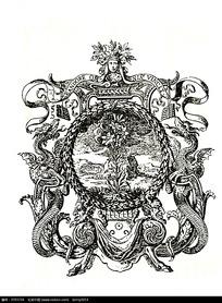 国外人物动物徽章图案素材